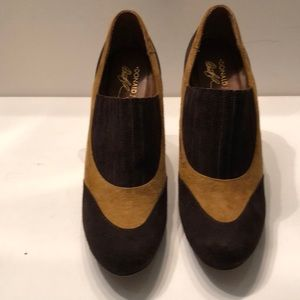 """Donald J. Pliner Shoes - Donald Pliner platform suede 4.5"""" heels"""
